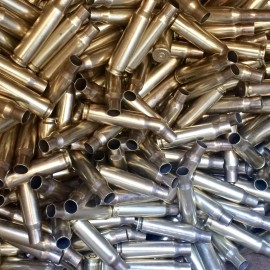 7.62x51 NATO Military FIRED Polished Brass - 1000ct