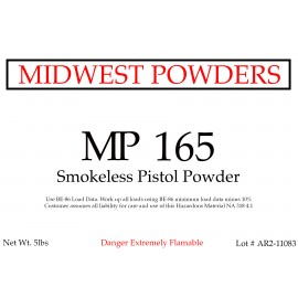 MP 165 Smokeless Pistol Powder - 20 lbs