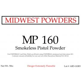 MP 160 Smokeless Pistol Powder - 10 lbs