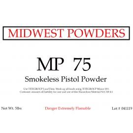 MP 75 Smokeless Pistol Powder - 20 lbs
