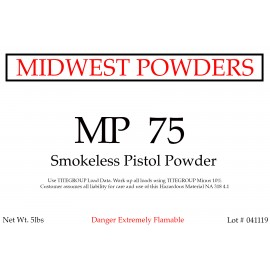 MP 75 Smokeless Pistol Powder - 20 lbs