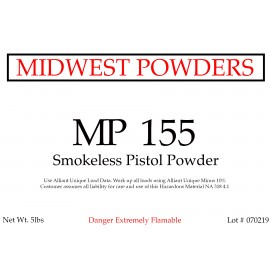 MP 155 Smokeless Pistol Powder - 10 lbs