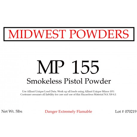 MP 155 Smokeless Pistol Powder - 20 lbs