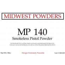 MP 140 Smokeless Pistol Powder - 10 lbs