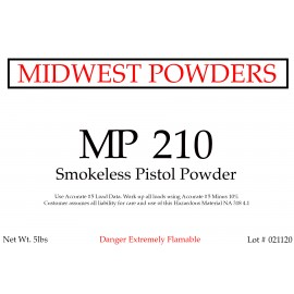 MP 210 Smokeless Pistol Powder - 20 lbs